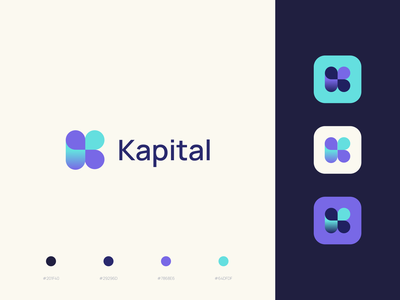 Kapital Branding icon color palette paraguay finance fintech bank kapital logo brand branding design indicius