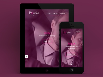 Bourke Films bourke films production animation responsive hero sleek landing page