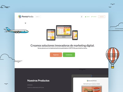 PontaMedia UX/UI Design user experience user interface latin america illustration animation captcha marketing pontamedia