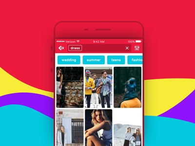 Mobile App - Tag Search Screen