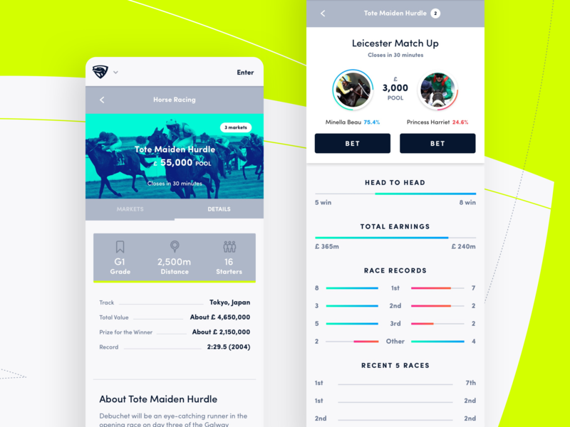 Mobile App design jungle uk app mobile betting ui ux