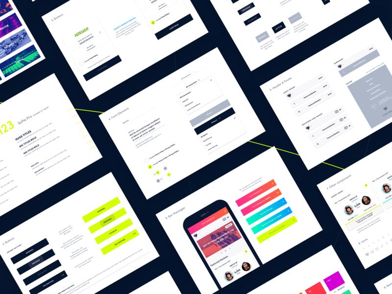 Style Guide style guide design jungle uk app desktop mobile betting ui ux