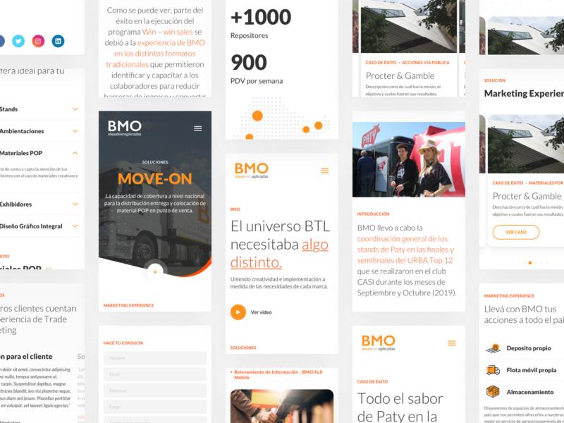 Bayton BMO - Mobile Views breakpoint mobile ideas marketing btl bmo bayton website design ux indicius ui