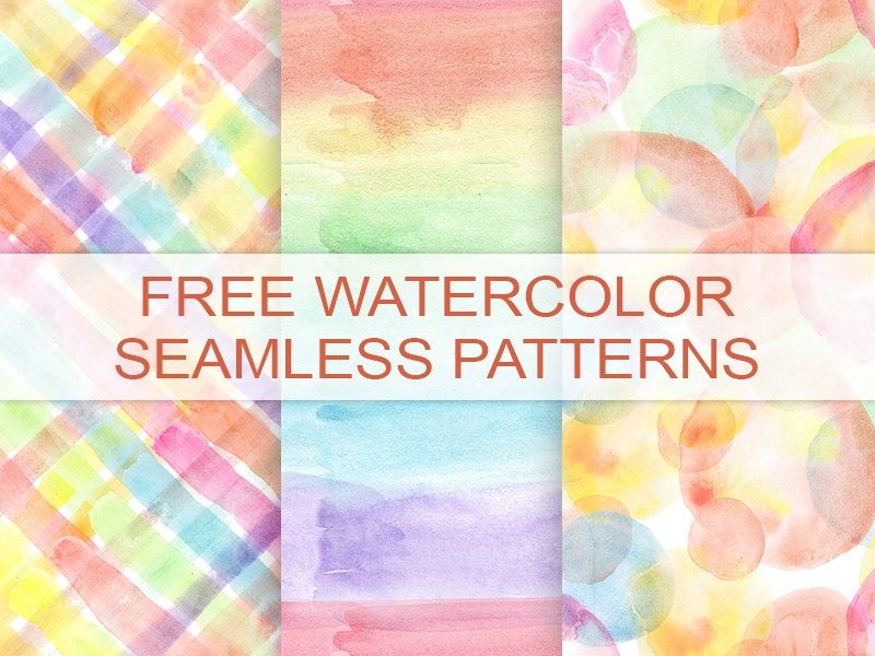 Download FREEBIE 3 WATERCOLOR SEAMLESS PATTERNS