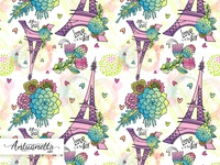 Love is in the air Vector seamless pattern