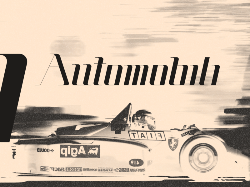 'Automobili' typeface automobile automotive font family font design fonts font typography typo type design typedesign type art typeface type branding