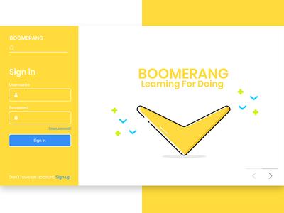 Boomerang Webseries 'dashboard '
