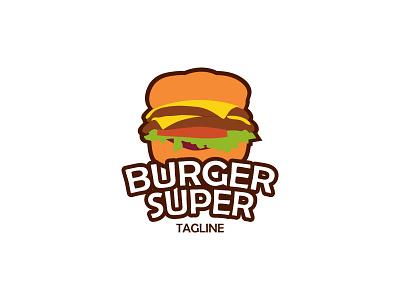 Burger Logo creative logo unique logo restaurant logo burger logo