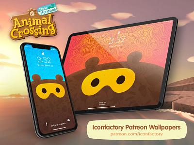 Animal Crossing Wallpapers patreon gedeon maheux ipad iphone macos ios video game adorable cute bear tom nook animal crossing nintendoswitch switch nintendo wallpaper