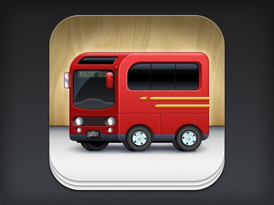 iOS App Icon Design: Busboy