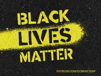 Black Lives Matter Social Media Avatar urban urban art patreon iconfactory facebook twitter avatar socialmedia social justice blm blacklivesmatter