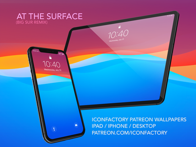 At the Surface Wallpaper (FREE) patreon wwdc dave brasgalla dave brasgalla summer abstract apple ios macos wallpaper desktop wallpaper desktop bigsur iconfactory