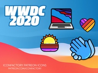 WWDC 2020 Icons desktop icons fun colorful developers ios macos enamel pins apple wwdc patreon iconfactory
