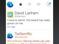 Twitterrific for iOS 7 User Interface Design