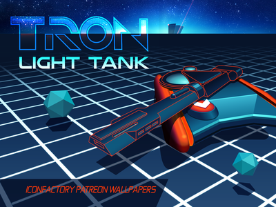 TRON Light Tank Wallpaper patreon desktop macos ios wallpaper 80s arcade tank flynn iconfactory video games tron