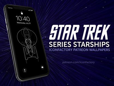 Star Trek Series Starships Wallpaper defiant enterprise technical macos ios lockscreen patreon starfleet corey marion iconfactory wallpaper startrek