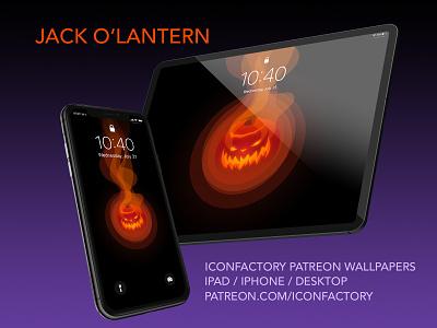 Jack O' Lantern Halloween Wallpaper patreon iconfactory wallpaper macos ipad iphone jack-o-lantern pumpkin holiday spooky halloween