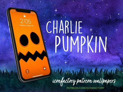 Charlie Pumpkin Wallpaper lock screen ios patreon spooky autumn fall iconfactory charlie brown peanuts cartoon kids holiday pumpkin wallpaper haloween