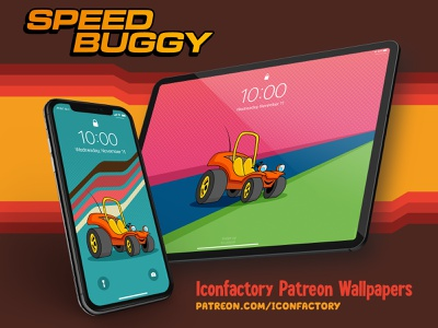Speed Buggy Wallpaper children kids groovy patreon iconfactory wallpaper retro cartoon hanna-barbera animation
