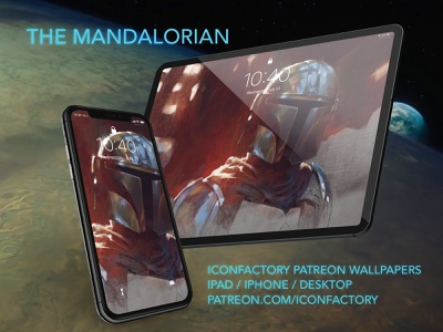 The Mandalorian Wallpaper brasgalla patreon desktop macos ios wallpaper iconfactory mando disney mandalorian star wars