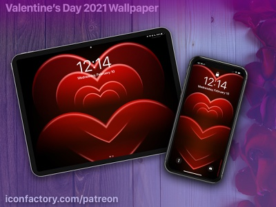 Valentine's Day 2021 Wallpaper patreon talos tsui desktop macos ios iphone love hearts holliday valentines day valentine iconfactory