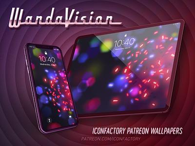 WandaVision Wallpaper ios homescreen lockscreen avengers patreon iconfactory wallpaper superhero television vision maximoff marvel wandavision wanda