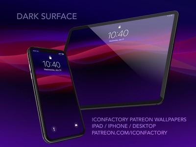 Dark Surface Wallpaper iconfactory home screen lockscreen patreon darkmode dark macos mac ios wallpaper abstract