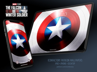 The Falcon and the Winter Soldier Wallpaper lockscreen macos ios patriotic shield superhero patreon wallpaper captain america falcon and winter soldier mcu iconfactory