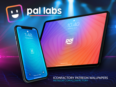 Pal Labs Wallpapers patreon animation iconfactory abstract colorful wallpaper
