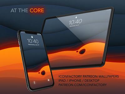 At The Core Wallpaper dave brasgalla dark darkmode volcanic lava desktop macos ipad iphone iconfactory patreon wallpaper abstract
