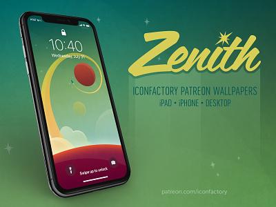 Zenith Wallpaper space outer space planetary rocket blast off desktop wallpaper retro scifi patreon iconfactory
