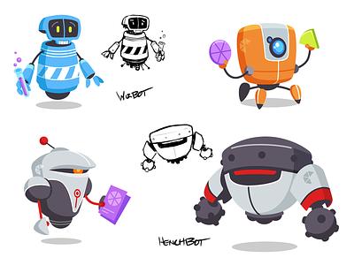 Frenzic: Overtime Character Designs frenzic scifi vector illustrator character design video game apple arcade robots illustration design iconfactory icon