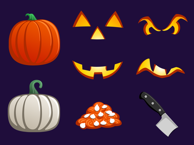 Iconfactory Hack-O-Lantern Stickers