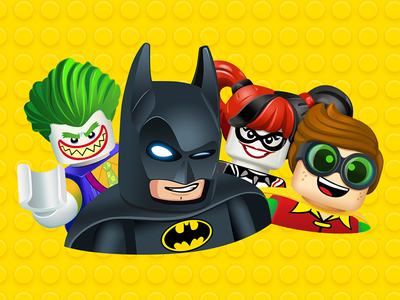 Official 'The LEGO® Batman Movie' Sticker Pack icons film warner bros. brands cinema lego batman ios messenger facebook stickers iconfactory