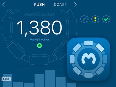 Max Mobility PushTracker - Interface & Icon Design