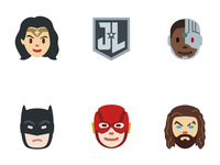 Official Justice League Twitter Emoji