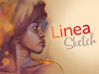 Linea Sketch Hero Image & Logo