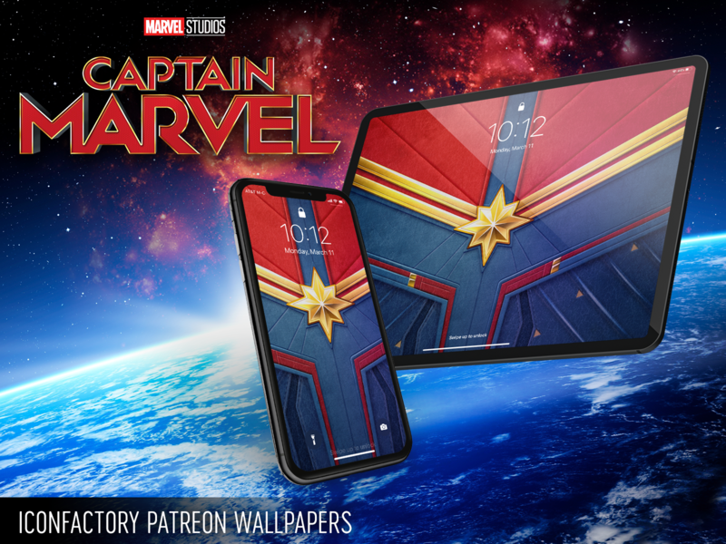 Captain Marvel Wallpaper by Iconfactory on Dribbble