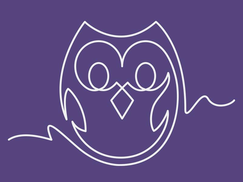 App Camp for Girls Owl-tline T-Shirt animal art continuous line cotton bureau cottonbureau screen print tee shirt t-shirt owl appcampforgirls