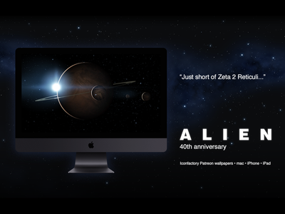 Alien 40th Anniversary Wallpaper - Z2R horror aliens wallpaper ipad iphone desktop wallpaper desktop xenomorph planet outer-space outer space outerspace scifi ridley scott alien patreon iconfactory