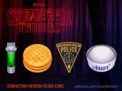 Stranger Things Icons icon iconfactory folders tv television hawkins hopper eleven scoops ahoy customize desktop macos icons spooky netflix 80s eggos strangerthings3 stranger things strangerthings
