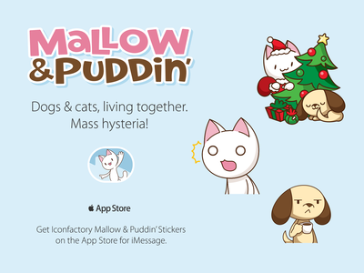 Mallow Pudding Sticker Pack