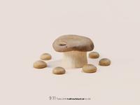 mushroom  table