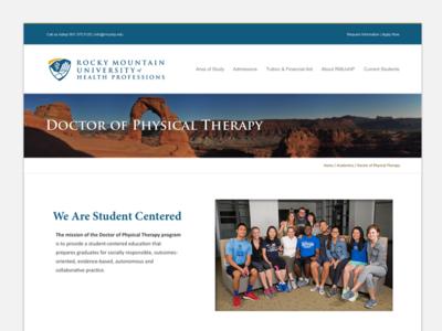 Rocky Mountain University Programs page