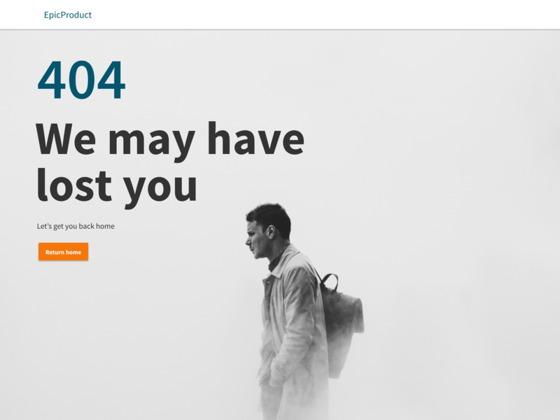 404 page - Lost
