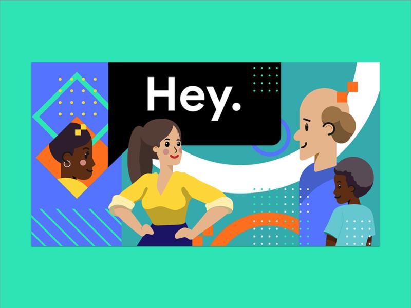 Google Developers Group Conference Concept google composition experiment branding vector illustration