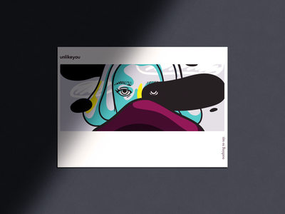 Nothing to say pop art poster illustration
