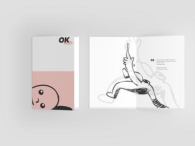 """OK"" Booklet wip poetry design typography illustration"