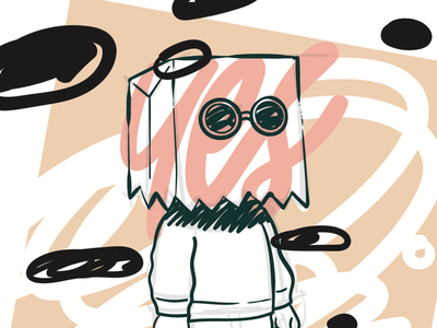 Do I look like I care? composition illustrations