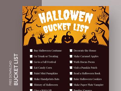 Halloween Bucket List Free Google Docs Template document docs bucket check checklist halloween list ms print printing pumpkin template word templates google freebie free doc design